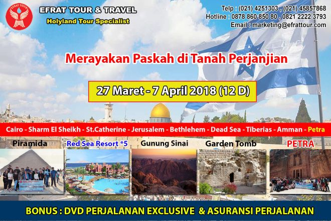 TOUR KE ISRAEL 27 Maret - 7 April 2018 Egypt - Israel - Jordan + Petra (PROMO PASKAH) 1 tour_ke_israel_27_maret__7_april_20181