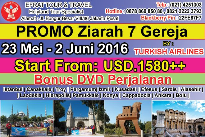 TOUR KE TURKI 23 Mei - 2 Juni 2016 Ziarah tujuh gereja by Turkish Airlines 1 tour_turki_murah