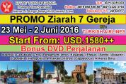 TOUR KE TURKI 23 Mei - 2 Juni 2016 Ziarah tujuh gereja by Turkish Airlines